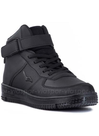 Cool 19-K30 Erkek-Kız Çocuk Siyah Basketbol Spor Bot Ayakkabı Siyah